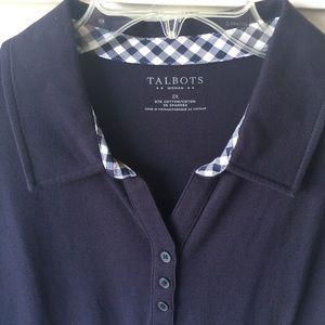NWT Talbots women's polo size 2X.
